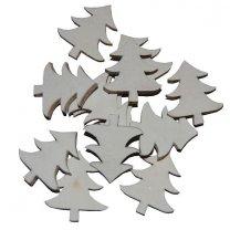 10 kerstboompjes van hout, 2,5cm