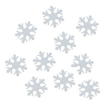12 vilten sneeuwvlokjes, 3cm