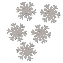 Houten sneeuwvlokjes, 10 stuks