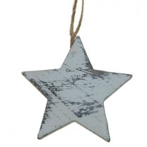 Houten hanger ster, 7,5cm