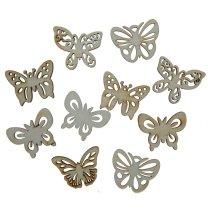 Setje houten van vlindertjes, 3,5cm