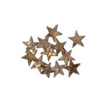 Sterretjes van schors, goud, 12 stuks, 2.5cm