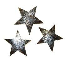 Cocosnoot schaal sterren, 3 stuks, 5cm
