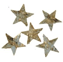 Sterren van schors, goud, 4cm