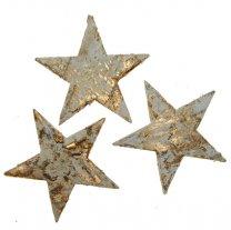Sterren van schors, goud, 6cm