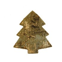 Kerstboom van schors, goud, 6cm