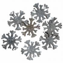 Sneeuwvlok van schors, NATUREL, 7 stuks, 5cm