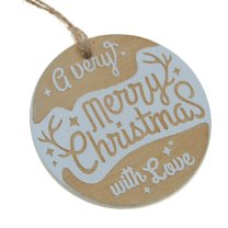 Merry christmas, ronde hanger 7cm