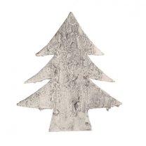 Kerstboom van schors, white-wash, 9cm