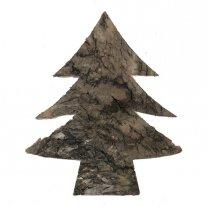 Kerstboom van schors, naturel, 9cm
