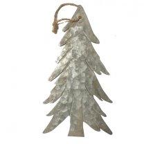 Kerstboom plat hangend groot, 24 cm