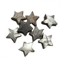 Ster van kokos, mini zilver, 6 stuks, 3cm
