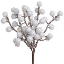 Bundeltje met kleine sneeuwballetjes, 18cm