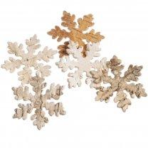 Sneeuwvlok van schors, naturel, 5 stuks, 6cm