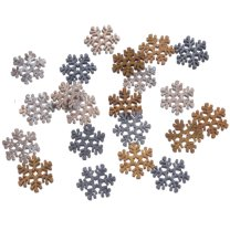 Mix van houten sneeuwvlokken, 24 stuks