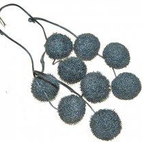 Plataanballetjes zilver met glitters