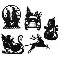 Setje van 5 vilten figuurtjes, Winter Wonderland
