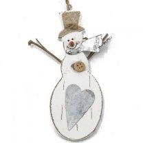 Houten Sneeuwpop hanger