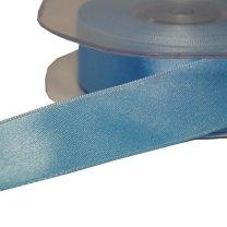 Lichtblauw satijnen lint, 25mm