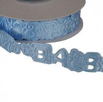 Laatste meters; Lichtblauw lint, Baby, 1,9cm