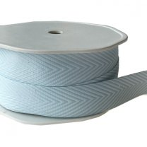 Chevron stripes, lichtblauw, 18mm