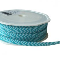 Chevron stripes, aqua, 6mm