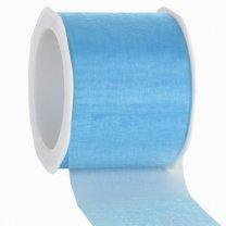 Blauw lint, organza, 40mm