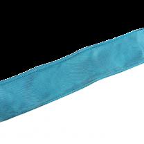Licht turquoise satijn met ijzerdraad in de rand, 3 meter, 40mm