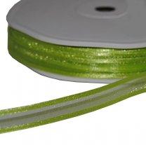 Groen lint, organza met satijnen rand, 10mm
