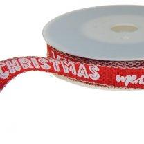 Lint Merry christmas rood, 15mm