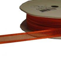 Oranje lint, Satijn en organza, 10mm