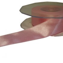Roze satijnen lint, 25mm