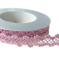 Roze gehaakt lint, 15mm