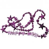 happy new year ketting, metallic fuccia