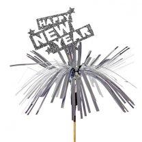 NIEUW! Happy New Year met tinsel, 8cm