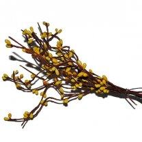 Takjes met gele bloemknopjes, 6 stuks, 38cm