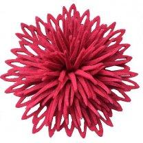 Vilten roze bloem, 12cm