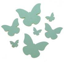 7 houten vlindermix dicht model mintgroen