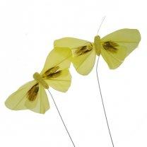 Gele vlinders, 9cm