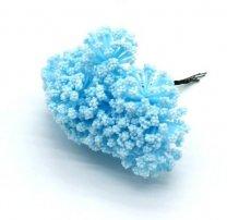 Bundeltje foam bloemetjes lichtblauw, 8cm