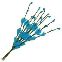 Bundel van lichtblauwe bloemetjes en besjes, 10 stuks, 20cm