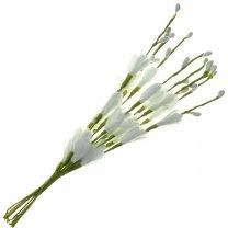 Bundel van witte bloemetjes en besjes, 10 stuks, 20cm