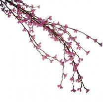 Grote tak met kleine roze bloesem, 77cm