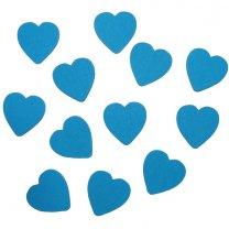 Houten hartjes blauw, 1,8cm