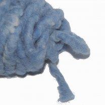 Marrocan flausch, wolkoord, lichtblauw 15mm, prijs per meter