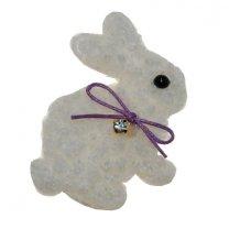 Wit wollig konijntje, 6cm