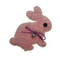 Roze konijntje, 6cm