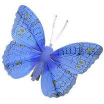 Blauwe vlinder 8cm