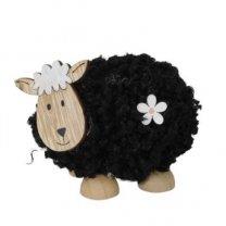 Zwart schaapje, staand figuurtje, 9cm