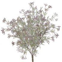 Bundeltje kunstplant grijsgroen met lilagrijze bloemetjes, 50cm